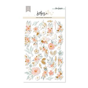 Pegatinas puffy Flores Baby M de Lora Bailora