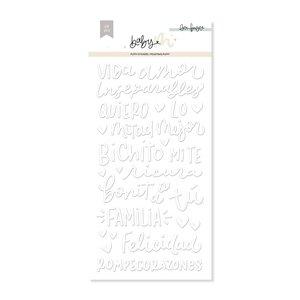 Pegatinas puffy lettering Baby M de Lora Bailora