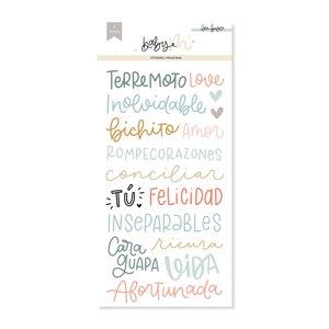 Set de pegatinas de frases Baby M de Lora Bailora