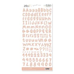 Alfabeto básico Peach Baby M de Lora Bailora