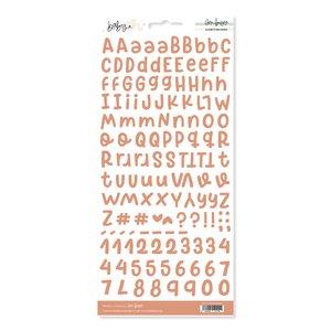 Alfabeto básico Sandía Baby M de Lora Bailora