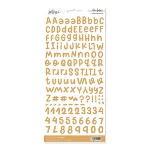 Alfabeto básico Mostaza Baby M de Lora Bailora
