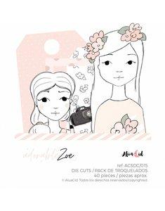 Die cuts Adorable Zoe 2.0 de Alúa Cid