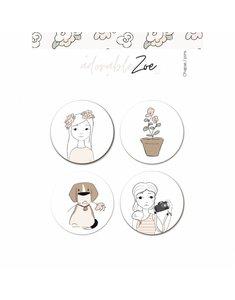 Set de chapas Adorable Zoe 2.0 de Alúa Cid