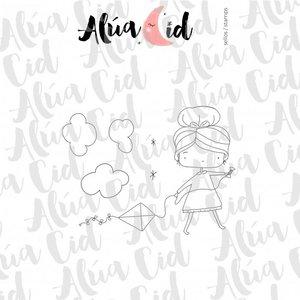 Mini sello Cometa ARI de Alúa Cid