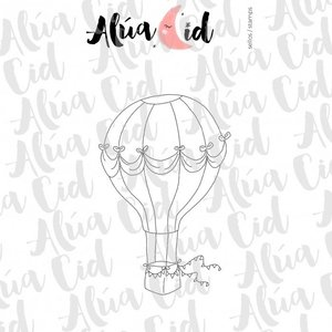 Mini sello Globo ARI de Alúa Cid