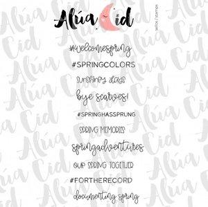 Mini sello Spring Moments ARI de Alúa Cid