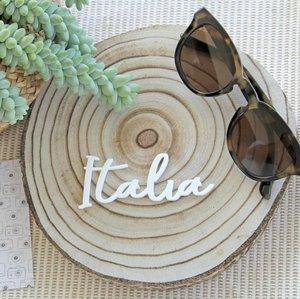 Palabra de metacrilato Italia Travel de Alúa Cid