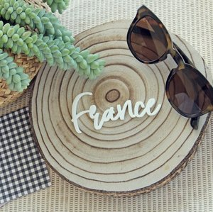 Palabra de metacrilato France Travel de Alúa Cid
