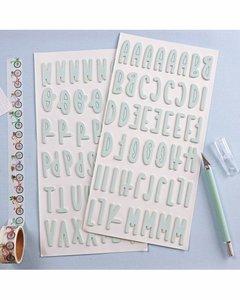 Alfabeto chipboard Rita Rita Mint