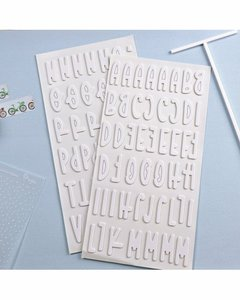 Alfabeto chipboard Rita Rita Blanco