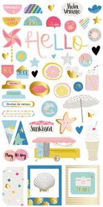 Pegatinas de chipboard Summer Stories