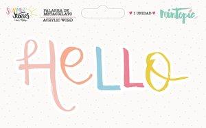 Palabra de metacrilato Hello de Summer Stories