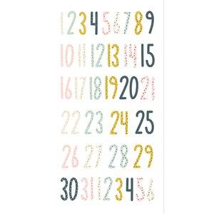 Números chipboard Muérdago de Mintopía
