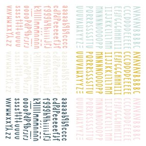 Mini alfabetos puffy Muérdago de Mintopía