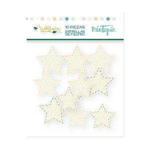 Estrellas de fieltro Muérdago de Mintopía