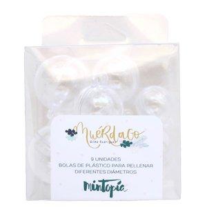 Set de mini bolas de plástico para rellenar Muérdago de Mintopía