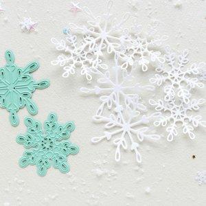 Troquel Copos de nieve Muérdago de Mintopía