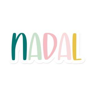 Palabra de metacrilato Kimidori Colors Nadal colores