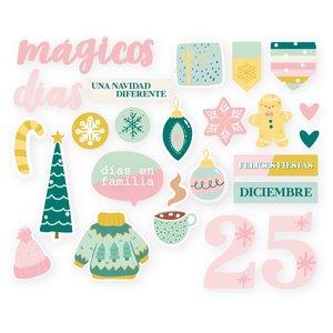 Set de adornos de metacrilato Kimidori Colors Diciembre