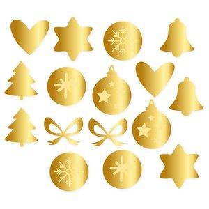 Set de adornos de metacrilato Kimidori Colors Navidad espejo oro