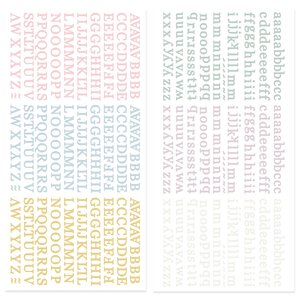 Mini alfabetos puffy Pétalos