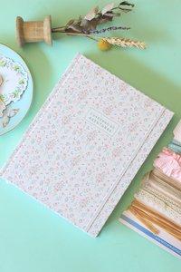 Cuaderno de Bullet Journal Flores grises