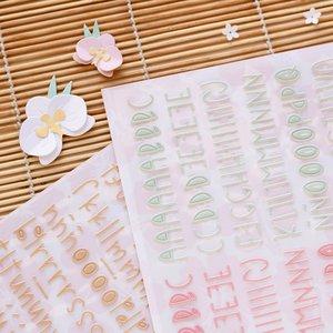Set de mini alfabetos puffy Aloha de Mintopía