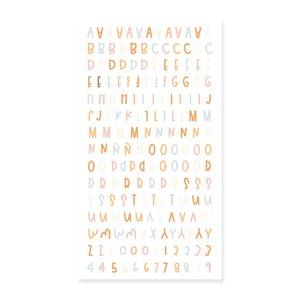 Alfabeto puffy Canela de Mintopía