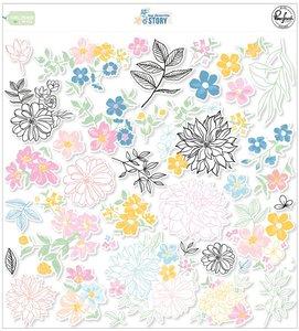 Die cuts de flores Pinkfresh My favorite story
