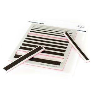 Sello desmontable Keeping it Real de PinkFresh Gradiating Stripes