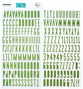 Alfabeto Green Some Days de PinkFresh