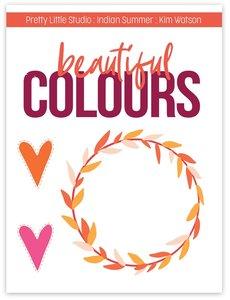 Acetato Cut-apart Indian Summer Beautiful Colors