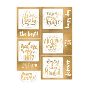 Die Cuts marcos con foil Indian Summer Give Thanks