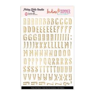 Alfabeto de Vellum con foil Indian Summer Trendy ABC