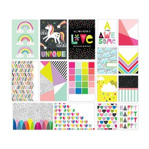 Tarjetas para Journaling Color Me Happy Be Awesome