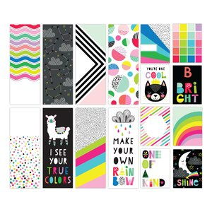 Tarjetas para Journaling Color Me Happy Be Cool
