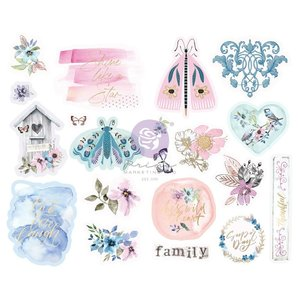 Pegatinas de chipboard col. Watercolor Floral de Prima