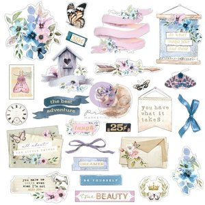 Die Cuts Ephemera 1 col. Watercolor Floral de Prima