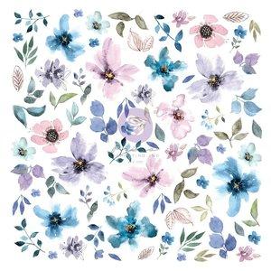 Die Cuts Ephemera 2 col. Watercolor Floral de Prima