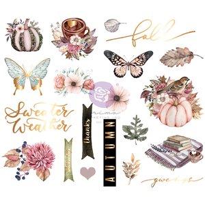 Pegatinas de chipboard col. Hello Pink Autumn de Prima