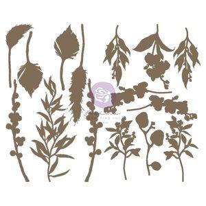 Piezas de chipboard Orchidea col. Hello Pink Autumn by Sharon Ziv
