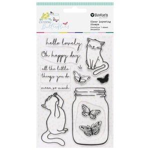 Set de sellos acrílicos Chasing Butterflies