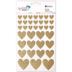 Pegatinas corazones glitter Lucky Me de Rosie's Studio