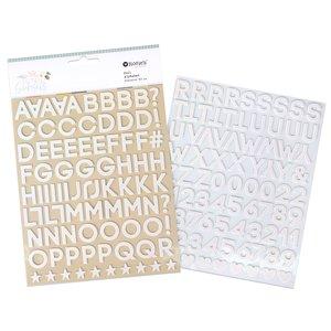 Alfabeto de chipboard Salt & Sunsets de Rosie's Studio