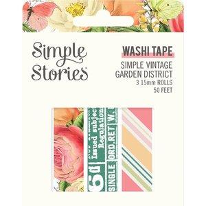 Set de washi tapes Simple Vintage Garden District