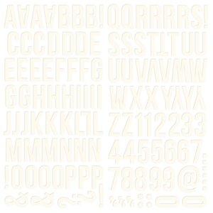 Alfabeto de foam Color Vibe Warm White