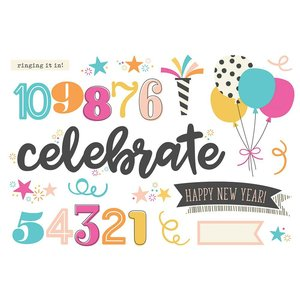 Die Cuts Simple Stories Page Pieces Happy New Year
