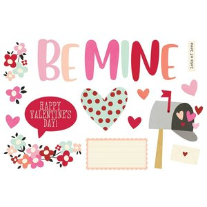 Die Cuts Simple Stories Page Pieces Valentine's Day