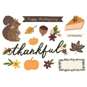 Die Cuts Simple Stories Page Pieces Thanksgiving